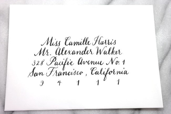 Calligraphed Envelope | lovely letters